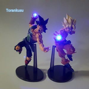 Dragon Ball Action Figure Goku Bardock LED Light