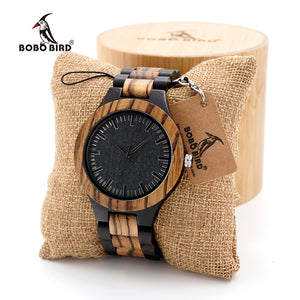 BOBO BIRD Watch with All Wood Strap