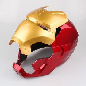 The Avengers Iron Man Helmet Cosplay Helmet Ring Sensor Switch Light up Eyes Collectible