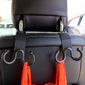 Universal 1 Pair Car Headrest Luggage Hook Claw Shape Back Seat Hook Cargo Organizer
