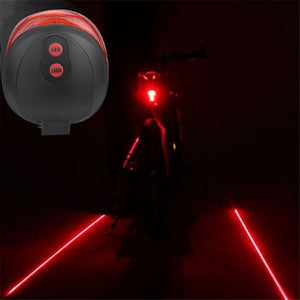 Outdoor Dynamic Cycling Bike Bicycle Red LED Lane Laser Projector