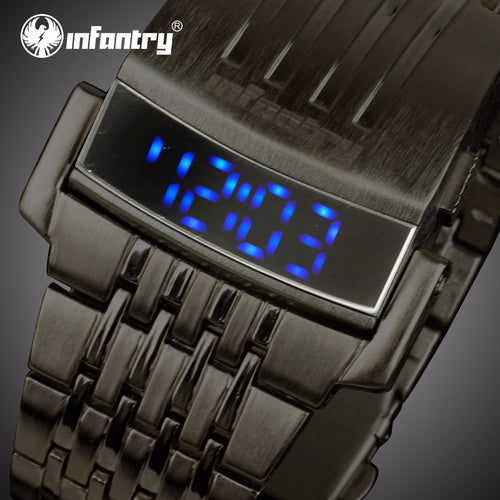 INFANTRY Unique Mens Watch LED Digital Display Water Resistant