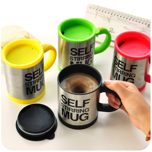 400 ML Self Stirring Mug Double Insulated Coffee Tea Milk Mixing Drinking Cup with Lid