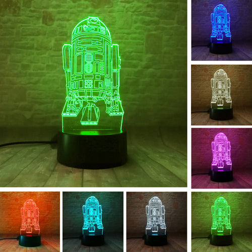 Star Wars R2D2 3D Colorful LED Lamp