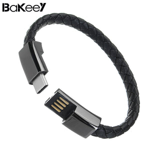 Universal Portable Sports Bracelet Type C USB Charging Data Cable For Huawei Oneplus Samsung