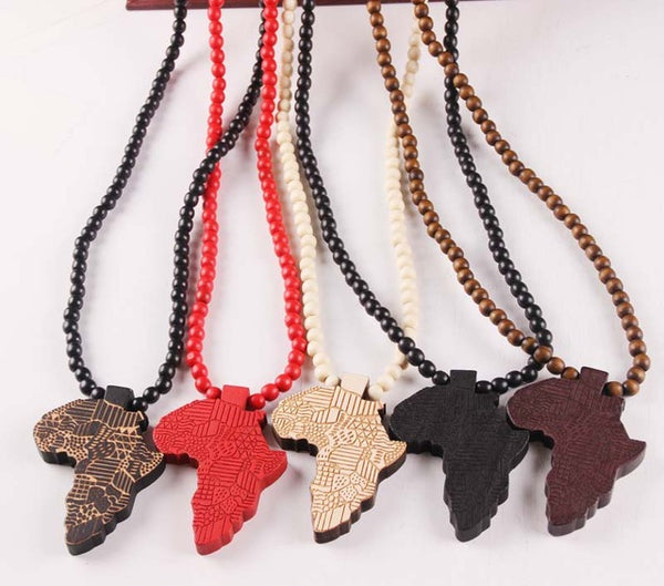 Good Wood African Pendant Necklace