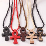 "Good Wood ""ANKH"" Cross Necklace"