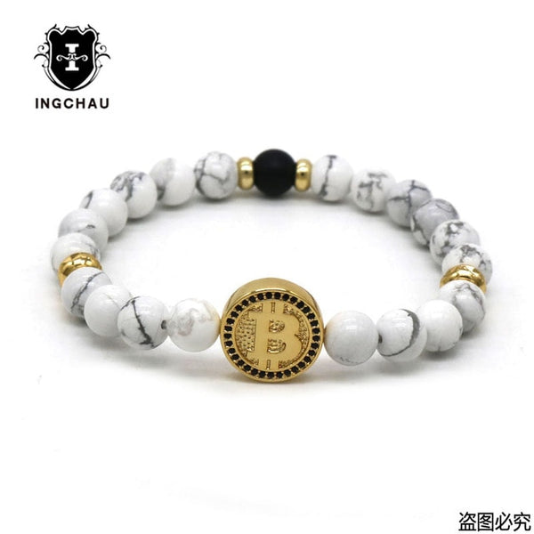 "Crystal Stone ""Bitcoin"" Bracelet Collection"