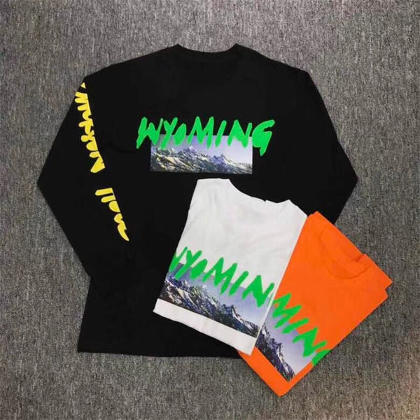 "Kanye West ""WYOMING"" Yeezy Season Tour Merch Long Sleeve"