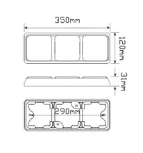LED Autolamps 100BARWM dimensions