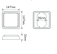 LED Autolamps 125RM dimensions