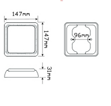 125AM Indicator Module Dimensions