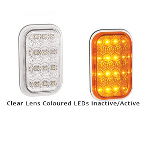 LED Autolamps 131CAM Rectangle Clear Lens Indicator Lamp Module or Insert - Each