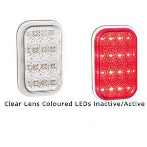 LED Autolamps 131CRM Rectangle Clear Lens