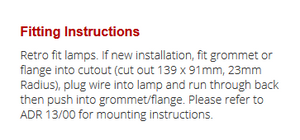LED Autolamps 131CAM fitting guide