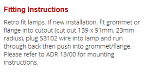 LED Autolamps 133RMG fitting guide