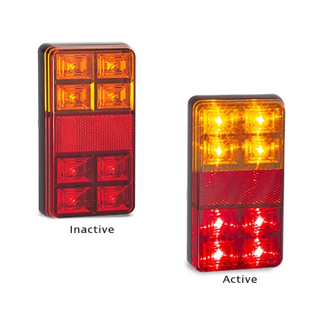 LED Autolamps 151BAR2 Stop/Tail & Indicator Lamp With Reflector 12 Volt - 1 Pair
