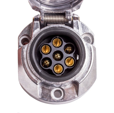 Lucidity 7 Pin Metal Trailer Socket - 196408000721