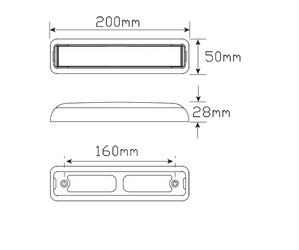 LED Autolamps 200BSTIM dimensions