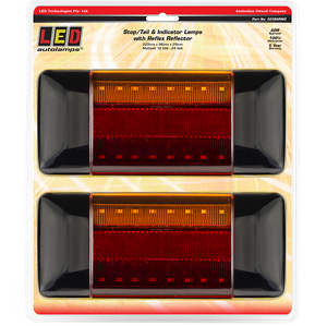LED Autolamps 223BARM2 Stop/Tail & Indicator Lamps - Pair