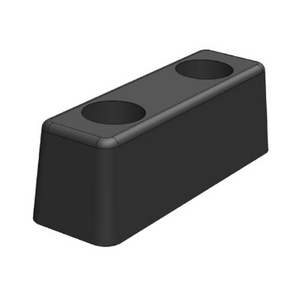 Rubber Bump Stop Buffer Moulded - 195mm Long, 2 Bolt