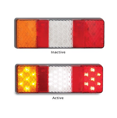 250 Series LED Autolamps Stop/Tail/Indicator w/ Reverse Lamp & Reflectors