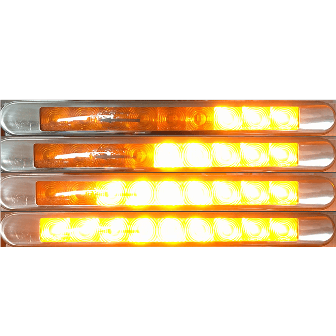 Lucidity Thin Surface Mount LED Progressive Indicator Lamp with Stainless Bezel - Each