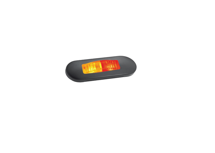 Lucidity Slim Line Amber/Red LED Side Marker Lamp - Premium Black Series