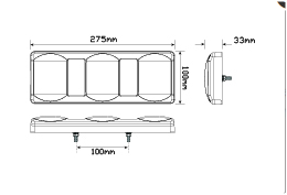 LED Autolamps 275GARWM dimensions