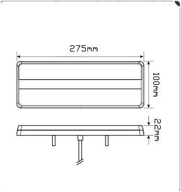 LED Autolamps 275AR dimensions