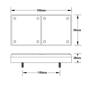 LED Autolamps 280ARM dimensions