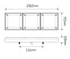 LED Autolamps 280ARRM dimensions