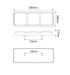 LED Autolamps 282ARRM dimensions