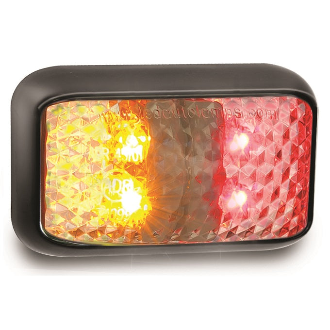 LED Autolamps 35ARM Red/Amber Side Marker Lamp