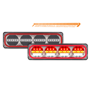 NEW LED Autolamps 520 Series Maxilamps Stop/Tail/Sequential Indicator & Reverse - Pair