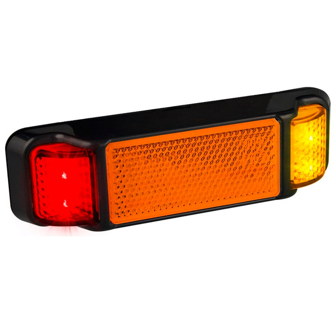LED Autolamps 38ARM Red/Amber Side Marker with Reflector