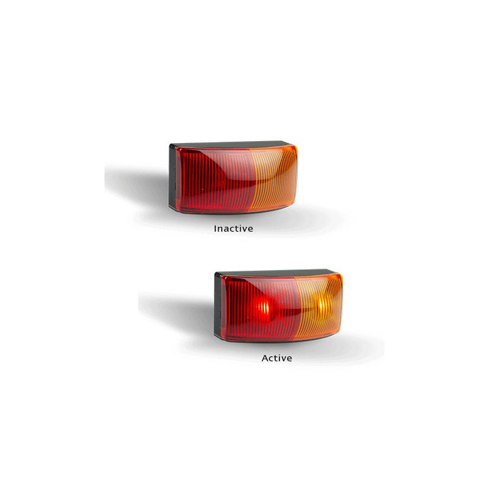 LED Autolamps 5025ARMB Red & Amber Side Marker - Box of 10