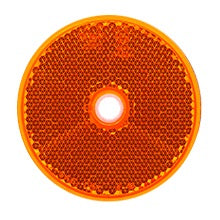LED Autolamps 66A Amber Screw On Round Reflectors - Pair