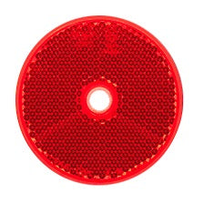 LED Autolamps 66R Red Screw On Round Reflectors - Pair