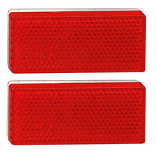 LED Autolamps 7030R Red Stick On 70 x 30mm Reflectors - Pair