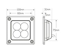 Recessed Flood Lamp dimensions