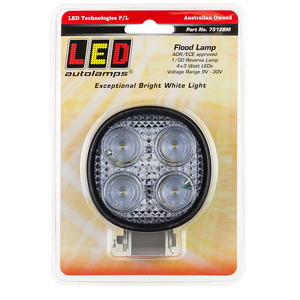 LED Autolamps 7512BM Round Flood/Reverse Lamp
