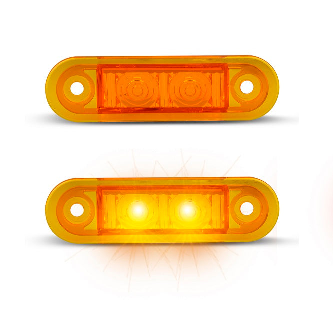 LED Autolamps 7922AM2 Amber Side Marker Lamps - Pair