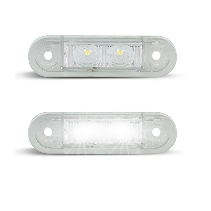 LED Autolamps 7922WM2 White Front End Outline Marker - Pair