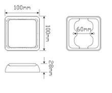 80 Series Stop/Tail Module or Insert Dimensions