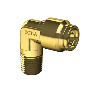 Brass Push to Connect Male Elbow Non-Swivel - Imperial Nylon Tube to NPT Thread