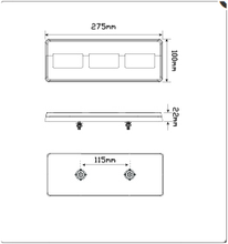 LED Autolamps 275ARM dimensions