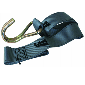 Grey Freighter Curtain Strap with J Hook - FR23269