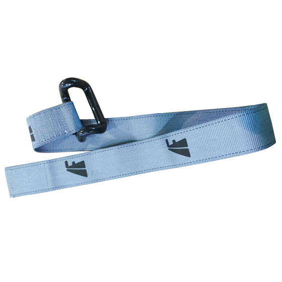 Grey Freighter Curtain Strap with Rav Hook - FR23270