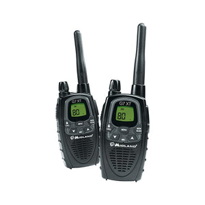 Midland G7XT Handheld 80 Channel 3W UHF Twin Pack